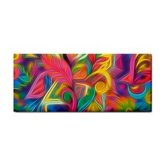 Colorful Floral Abstract Painting Hand Towel by KirstenStar