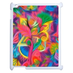 Colorful Floral Abstract Painting Apple Ipad 2 Case (white) by KirstenStar