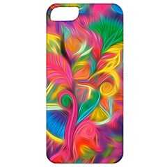 Colorful Floral Abstract Painting Apple Iphone 5 Classic Hardshell Case by KirstenStar