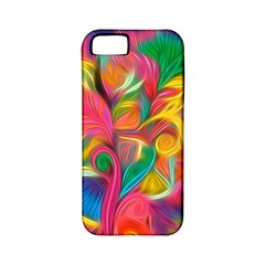 Colorful Floral Abstract Painting Apple Iphone 5 Classic Hardshell Case (pc+silicone) by KirstenStar