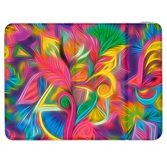 Colorful Floral Abstract Painting Samsung Galaxy Tab 7  P1000 Flip Case by KirstenStar