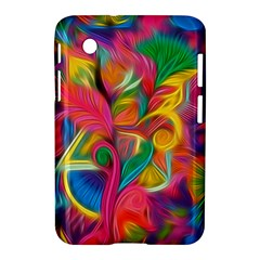 Colorful Floral Abstract Painting Samsung Galaxy Tab 2 (7 ) P3100 Hardshell Case  by KirstenStar