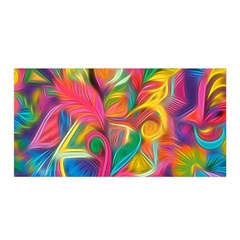 Colorful Floral Abstract Painting Satin Wrap by KirstenStar