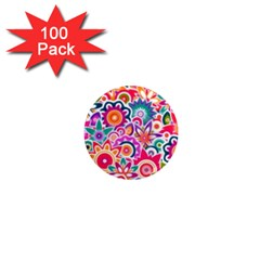 Eden s Garden 1  Mini Button Magnet (100 Pack) by KirstenStar