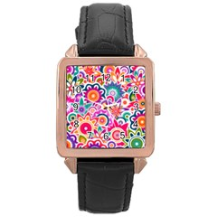 Eden s Garden Rose Gold Leather Watch  by KirstenStar
