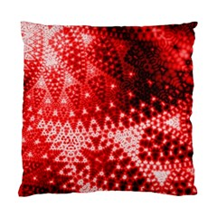 Red Fractal Lace Cushion Case (two Sided)  by KirstenStar
