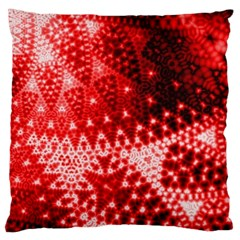 Red Fractal Lace Large Cushion Case (two Sided)  by KirstenStar