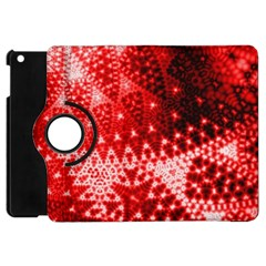Red Fractal Lace Apple Ipad Mini Flip 360 Case by KirstenStar