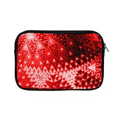 Red Fractal Lace Apple Ipad Mini Zippered Sleeve by KirstenStar