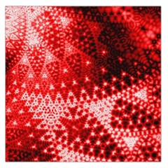 Red Fractal Lace Large Satin Scarf (square) by KirstenStar