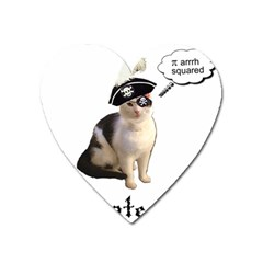 Pi Rate Cat Magnet (heart) by brainchilddesigns