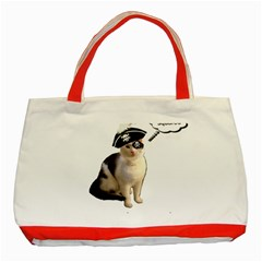 Pi Rate Cat Classic Tote Bag (red) by brainchilddesigns