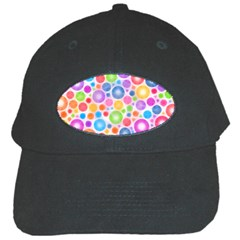 Candy Color s Circles Black Baseball Cap by KirstenStar