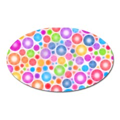 Candy Color s Circles Magnet (oval) by KirstenStar