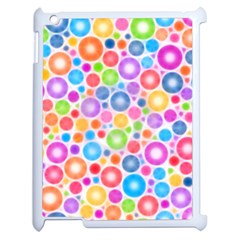 Candy Color s Circles Apple Ipad 2 Case (white)