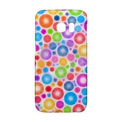Candy Color s Circles Samsung Galaxy S6 Edge Hardshell Case by KirstenStar