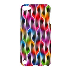 Rainbow Psychedelic Waves Apple Ipod Touch 5 Hardshell Case by KirstenStar