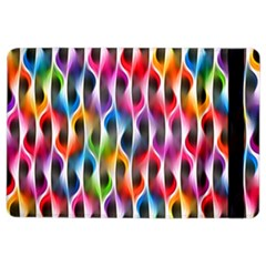 Rainbow Psychedelic Waves Apple Ipad Air 2 Flip Case by KirstenStar