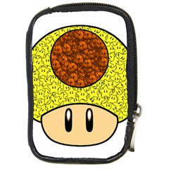 Really Mega Mushroom Compact Camera Leather Case by kramcox