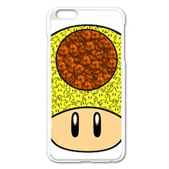 Really Mega Mushroom Apple Iphone 6 Plus Enamel White Case by kramcox