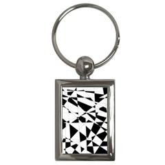 Shattered Life In Black & White Key Chain (rectangle) by StuffOrSomething