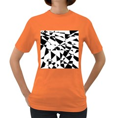 Shattered Life In Black & White Women s T Shirt (colored) by StuffOrSomething