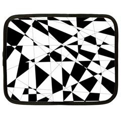 Shattered Life In Black & White Netbook Sleeve (large) by StuffOrSomething