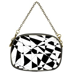 Shattered Life In Black & White Chain Purse (one Side) by StuffOrSomething