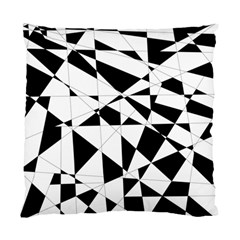 Shattered Life In Black & White Cushion Case (single Sided)  by StuffOrSomething