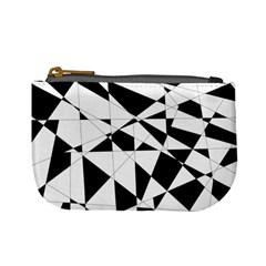 Shattered Life In Black & White Coin Change Purse