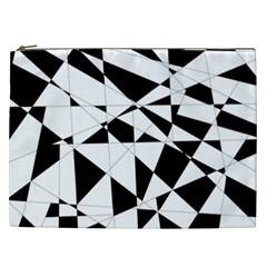 Shattered Life In Black & White Cosmetic Bag (xxl) by StuffOrSomething