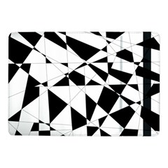 Shattered Life In Black & White Samsung Galaxy Tab Pro 10 1  Flip Case by StuffOrSomething