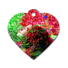 Summer Time Dog Tag Heart (one Sided)  by icarusismartdesigns