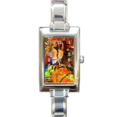 Robot Connection Rectangular Italian Charm Watch by icarusismartdesigns