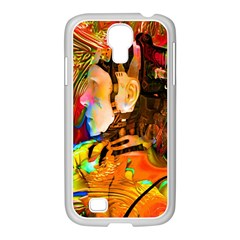 Robot Connection Samsung Galaxy S4 I9500/ I9505 Case (white) by icarusismartdesigns