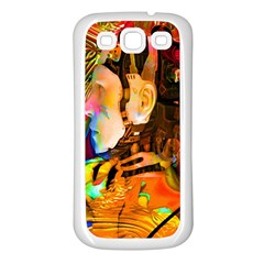 Robot Connection Samsung Galaxy S3 Back Case (white) by icarusismartdesigns