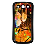 Robot Connection Samsung Galaxy S3 Back Case (Black) Front