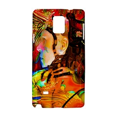Robot Connection Samsung Galaxy Note 4 Hardshell Case by icarusismartdesigns