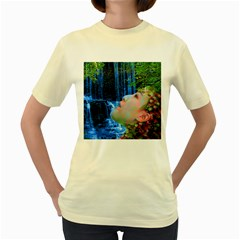 Fountain Of Youth Women s T-shirt (yellow) by icarusismartdesigns