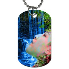 Fountain Of Youth Dog Tag (one Sided) by icarusismartdesigns