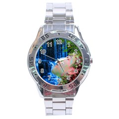 Fountain Of Youth Stainless Steel Watch by icarusismartdesigns