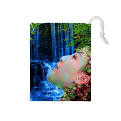 Fountain Of Youth Drawstring Pouch (medium) by icarusismartdesigns