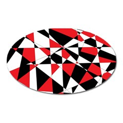 Shattered Life Tricolor Magnet (oval) by StuffOrSomething