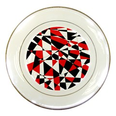 Shattered Life Tricolor Porcelain Display Plate by StuffOrSomething