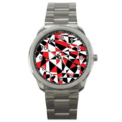 Shattered Life Tricolor Sport Metal Watch by StuffOrSomething