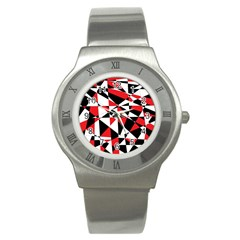 Shattered Life Tricolor Stainless Steel Watch (slim) by StuffOrSomething