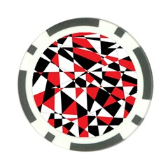 Shattered Life Tricolor Poker Chip by StuffOrSomething