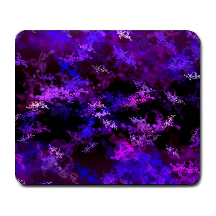 Purple Skulls Goth Storm Large Mouse Pad (Rectangle)