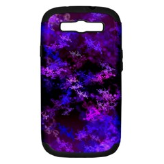 Purple Skulls Goth Storm Samsung Galaxy S Iii Hardshell Case (pc+silicone) by KirstenStar