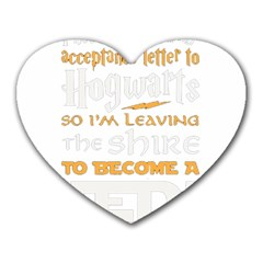 Howarts Letter Mouse Pad (heart) by empyrie